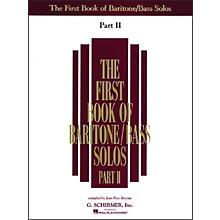 G. Schirmer First Book Of Baritone /Bass Solos Part 2
