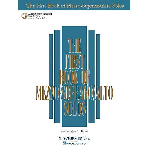 G. Schirmer First Book Of Mezzo-Soprano / Alto Solos Book/2CD Package