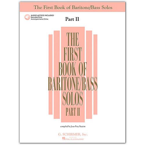 G. Schirmer First Book/Online Audio Of Baritone / Bass Solos Part 2 Book/Online Audio