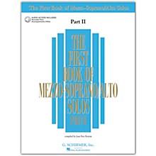 G. Schirmer First Book/Online Audio Of Mezzo-Soprano / Alto Solos Part 2 Book/Online Audio