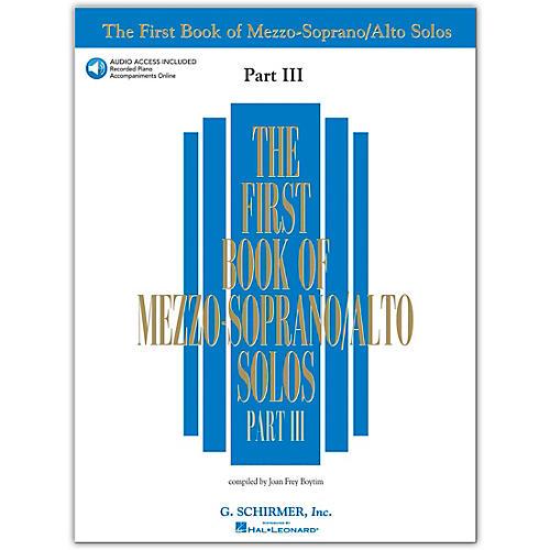 G. Schirmer First Book/Online Audio Of Mezzo-Soprano / Alto Solos Part III Book/Online Audio