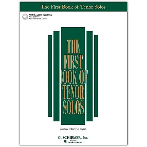 G. Schirmer First Book/Online Audio Of Tenor Solos Book/Online Audio
