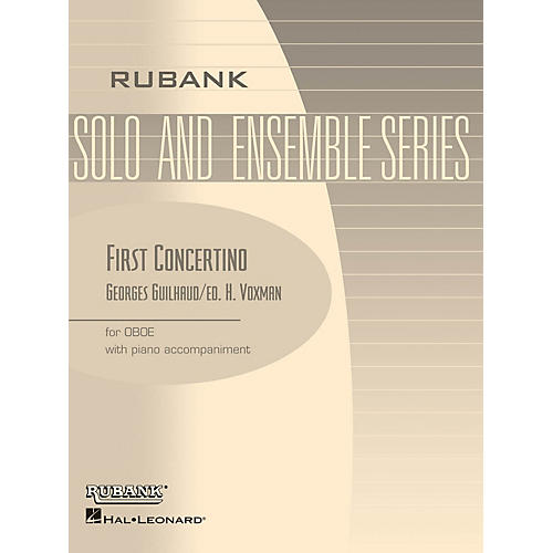 Rubank Publications First Concertino (Oboe Solo with Piano - Grade 4.5) Rubank Solo/Ensemble Sheet Series