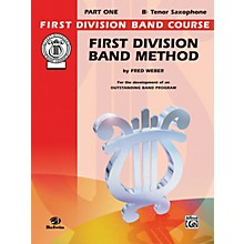 Alfred First Division Band Method Part 1 B-Flat Tenor Saxophone