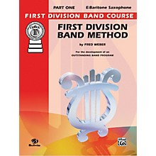 Alfred First Division Band Method Part 1 E-Flat Baritone Saxophone Book