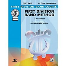 Alfred First Division Band Method Part 2 B-Flat Tenor Saxophone