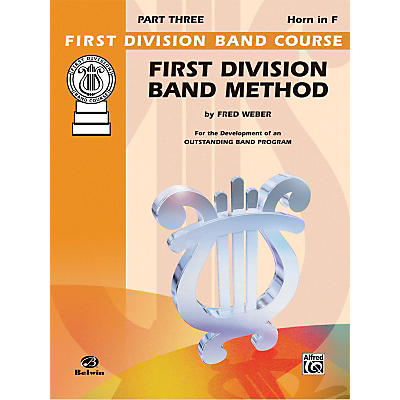 Alfred First Division Band Method Part 3 Horn in F