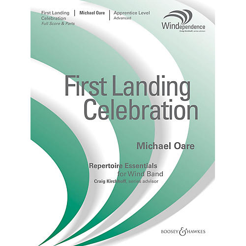 Boosey and Hawkes First Landing Celebration (Score Only) Concert Band Level 2-3 Composed by Michael Oare