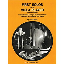G. Schirmer First Solos for The Viola Player First Position