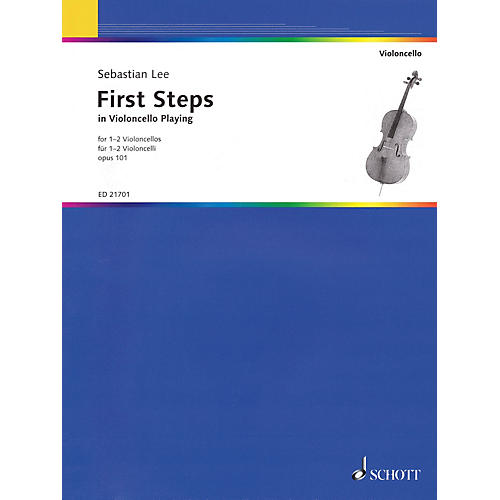 Schott First Steps in Violoncello Playing, Op. 101 (For 1-2 Violoncellos) String Series Softcover