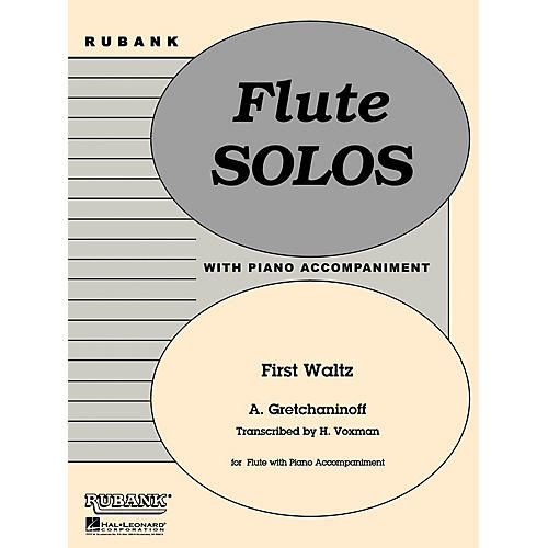 Rubank Publications First Waltz (Flute Solo with Piano - Grade 1) Rubank Solo/Ensemble Sheet Series
