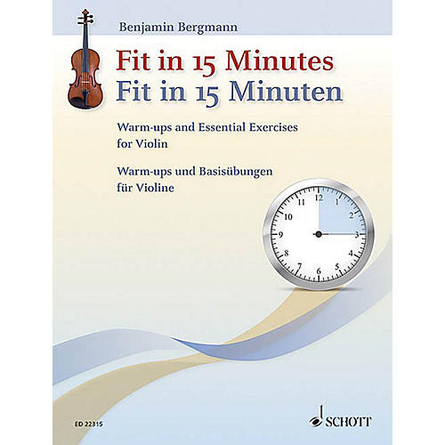 Schott Fit In 15 Minutes String Series Softcover Written by Benjamin Bergmann