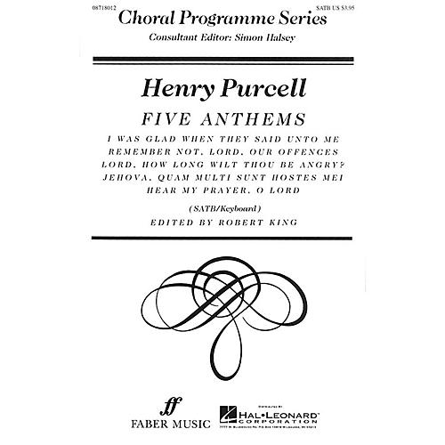 Hal Leonard Five Anthems (Collection) Faber Program Series Series Composed by Henry Purcell Edited by Robert King