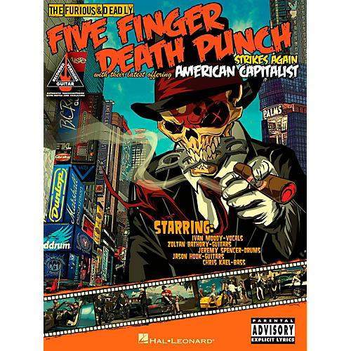Hal Leonard Five Finger Death Punch - American Capitalist Guitar Tab Songbook