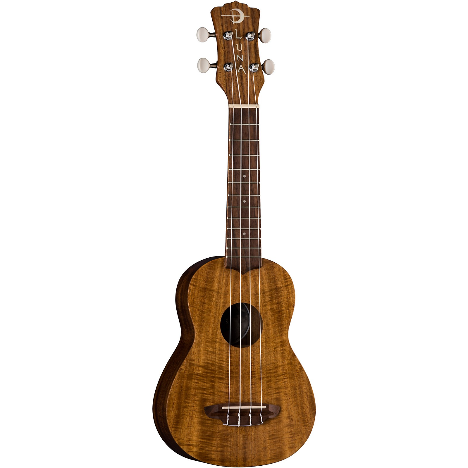 Luna Guitars Flamed Acacia Soprano Ukulele