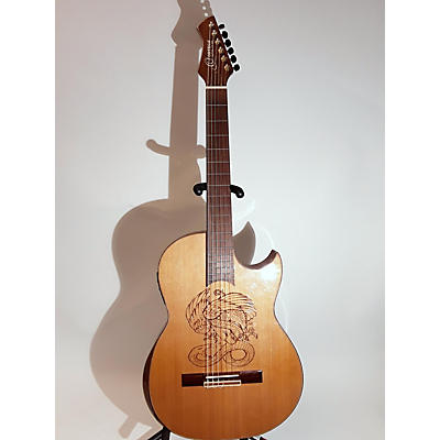 Ortega Flametal One Classical Acoustic Electric Guitar