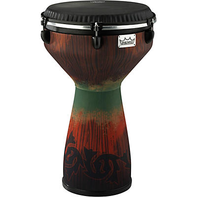 Remo Flareout Djembe Drum, Savannah Red, 13""