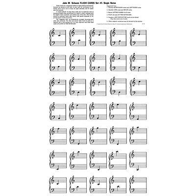 SCHAUM Flash Cards - Set 1 Educational Piano Series Softcover