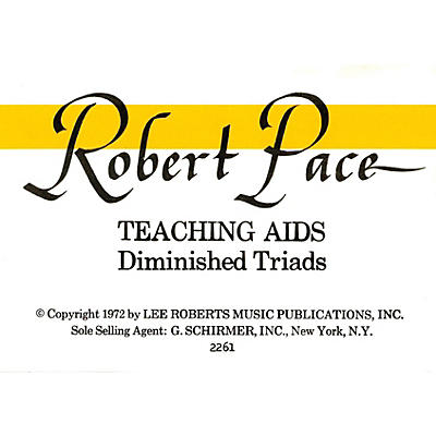 Lee Roberts Flash Cards, Diminished Triads Pace Piano Education Series