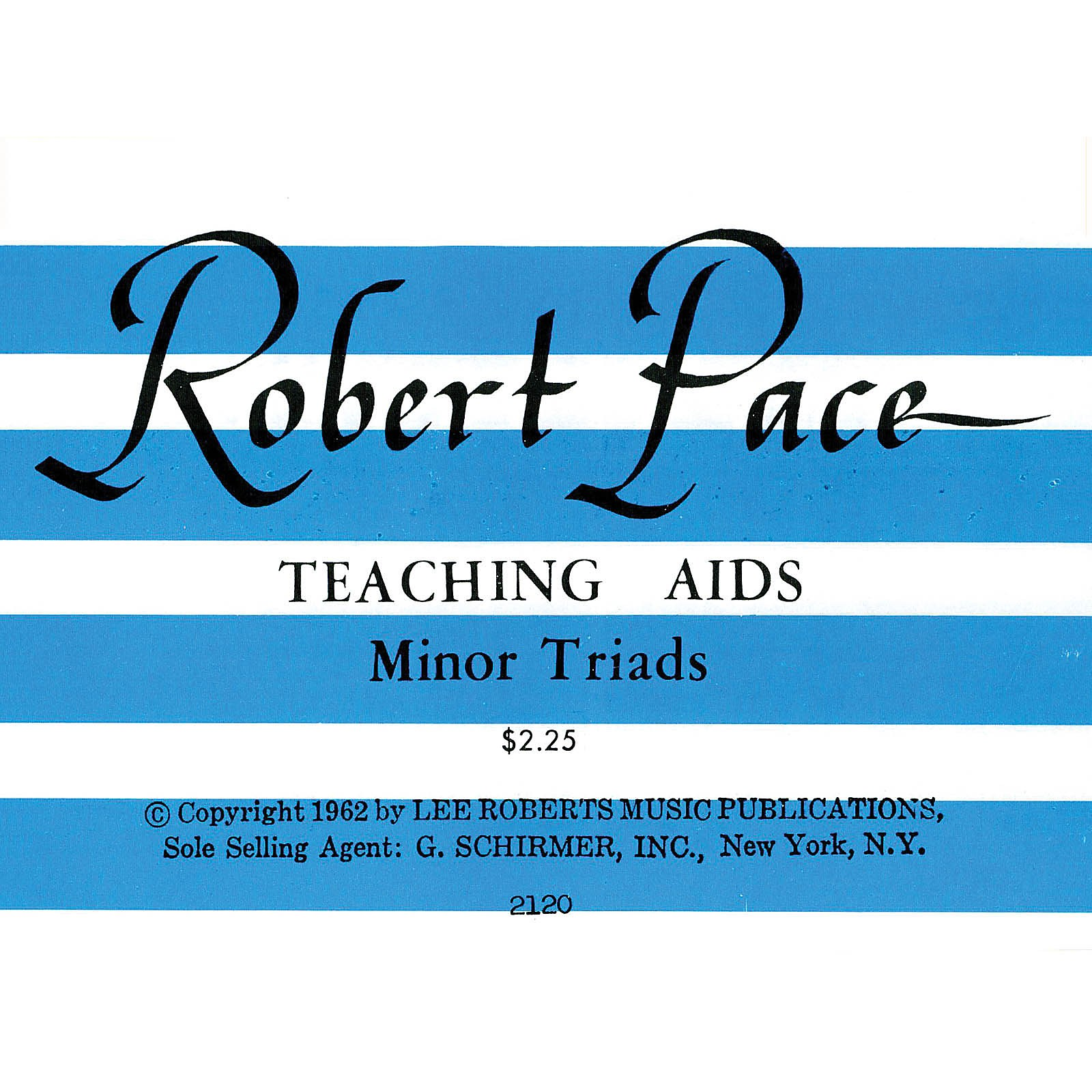 Lee Roberts Flash Cards, Minor Triads Pace Piano Education Series