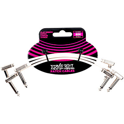 Ernie Ball Flat Ribbon Patch Cable 3-Pack