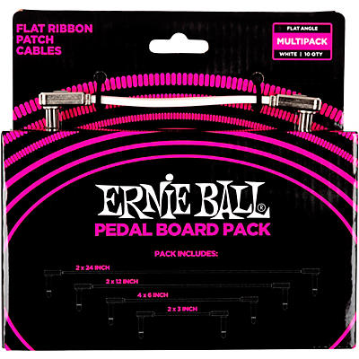 Ernie Ball Flat Ribbon Patch Cables For Pedalboard Multi-Pack