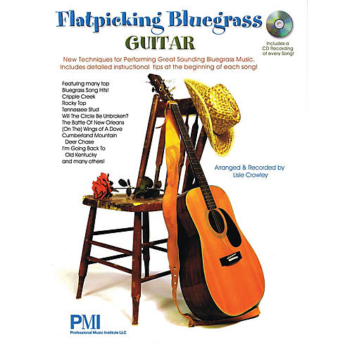 Professional Music Institute Flatpicking Bluegrass Guitar Guitar Solo Series Softcover with CD