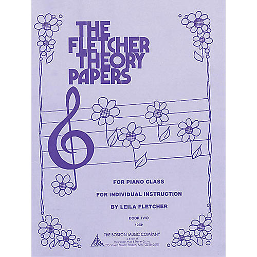 Boston Music Fletcher Theory Papers (Book 2) Music Sales America Series Softcover Written by Leila Fletcher