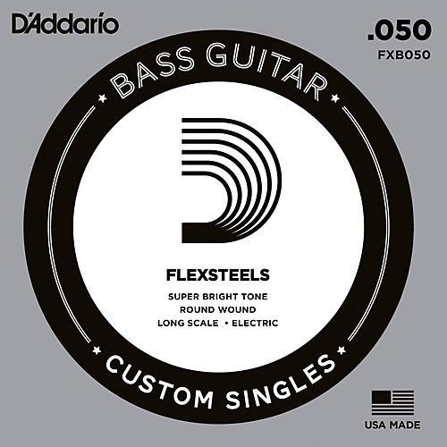 D'Addario FlexSteels Long Scale Bass Guitar Single String (.050)