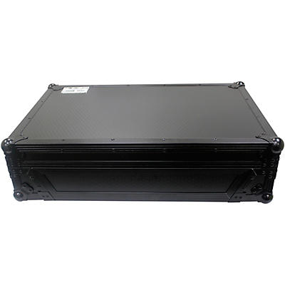 ProX Flight Case For RANE ONE DJ Controller with 1U Rack and Wheels - Black/Black