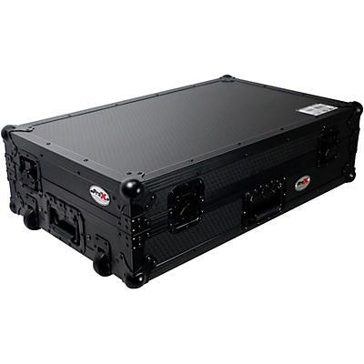 ProX Flight Case for Pioneer DDJ-FLX6 W/ Glide Sliding Laptop Shelf and Wheels Black on Black Hardware