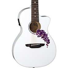 Open BoxLuna Guitars Flora Orchid Select Spruce Parlor Acoustic-Electric Guitar
