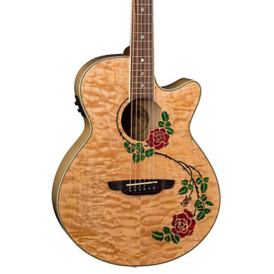 Luna Guitars Flora Rose Acoustic-Electric Guitar