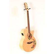 Open BoxLuna Guitars Flora Rose Acoustic-Electric Guitar