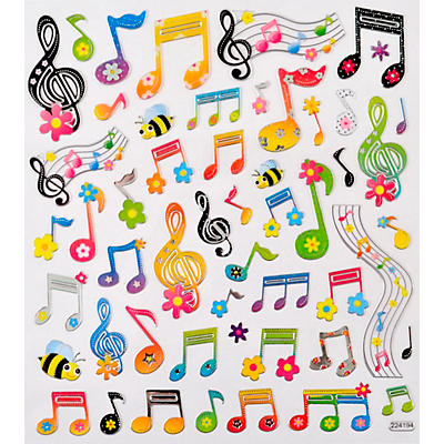AIM Floral Music Note Stickers