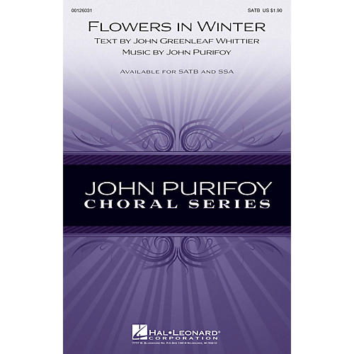 Hal Leonard Flowers in Winter SATB composed by John Purifoy
