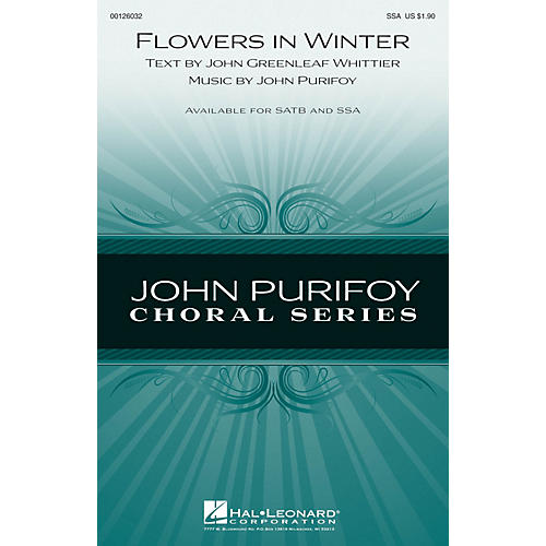 Hal Leonard Flowers in Winter SSA composed by John Purifoy