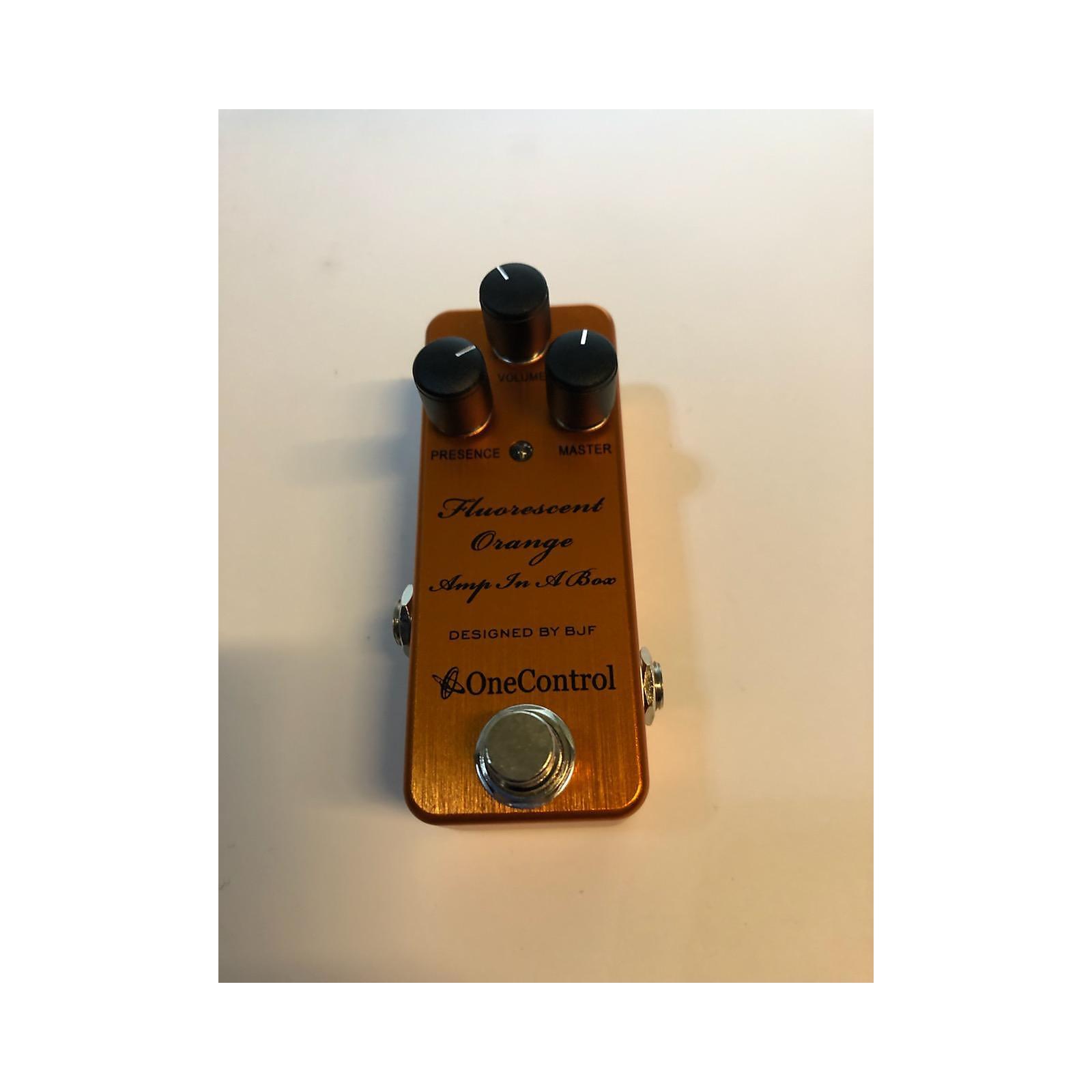 One Control Fluorescent Orange Amp In A Box Effect Pedal