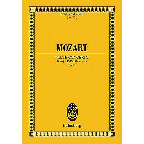 Eulenburg Flute Concerto in D Major, K. 314 Schott by Mozart Arranged by Rudolf Gerber