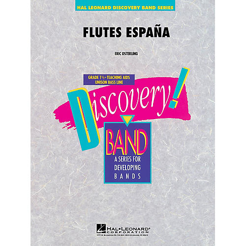Hal Leonard Flutes España Concert Band Level 1.5 Composed by Eric Osterling