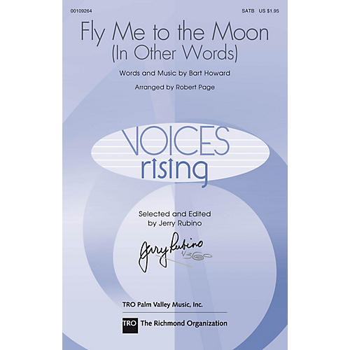 Hal Leonard Fly Me to the Moon SATB arranged by Robert Page
