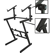 Open Box On-Stage Folding Heavy-Duty Dual-Tier Z Stand