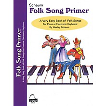 SCHAUM Folk Song Primer Educational Piano Book (Level Early Elem)