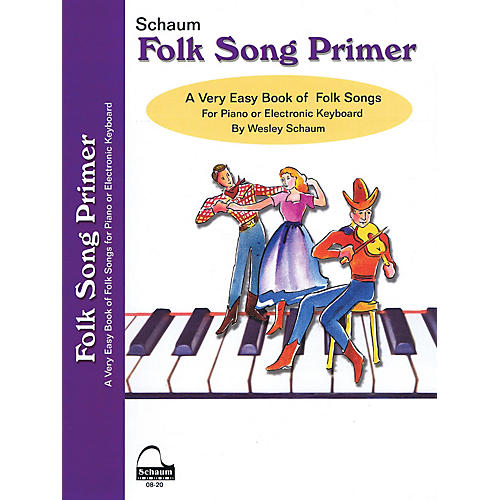 SCHAUM Folk Song Primer Educational Piano Book (Level Early Elem)