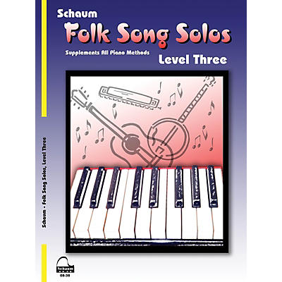 SCHAUM Folk Song Solos (Level 3) Educational Piano Book (Level Early Inter)