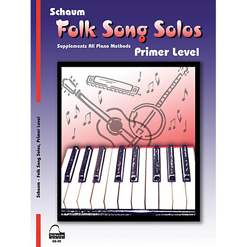 SCHAUM Folk Song Solos (Primer Level) Educational Piano Book