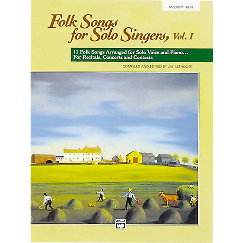 Alfred Folk Songs for Solo Singers Vol. 1 Medium High Voice Book & CD