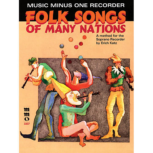 Music Minus One Folk Songs of Many Nations (Music Minus One Recorder) Music Minus One Series Softcover with CD