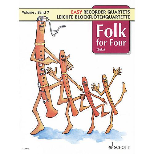 Schott Folk for Four - Volume 7 Schott Series Softcover  by Various Arranged by Wilhelm Lutz