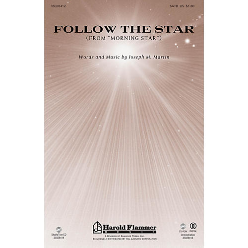 Shawnee Press Follow the Star (from Morning Star) SATB composed by Joseph M. Martin